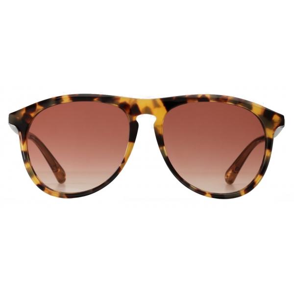 Chloé - Esther Aviator Sunglasses for Women in a Bio-based Material - Light Havana Peach - Chloé Eyewear