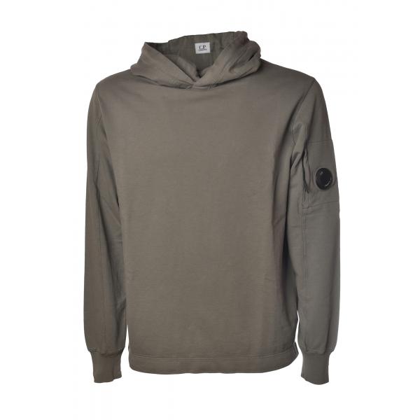 C.P. Company - Hooded Sweatshirt with Logo - Grey - Luxury Exclusive Collection