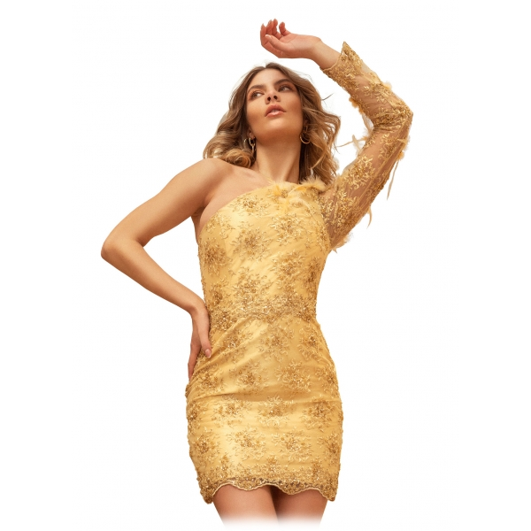 Grace - Grazia di Miceli - Amber - Dress - Luxury Exclusive Collection - Made in Italy - Luxury High Quality Dress
