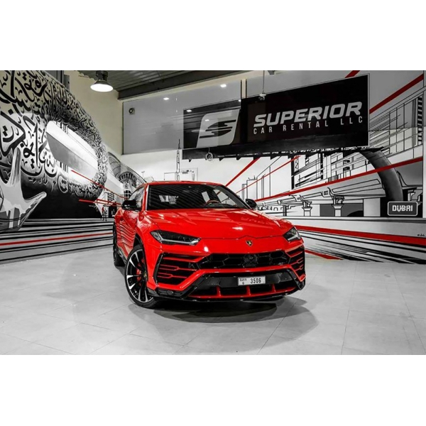 Superior Car Rental - Lamborghini Urus - Red - Exclusive Luxury Rent
