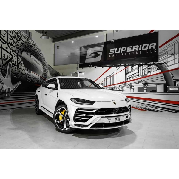Superior Car Rental - Lamborghini Urus - White - Exclusive Luxury Rent