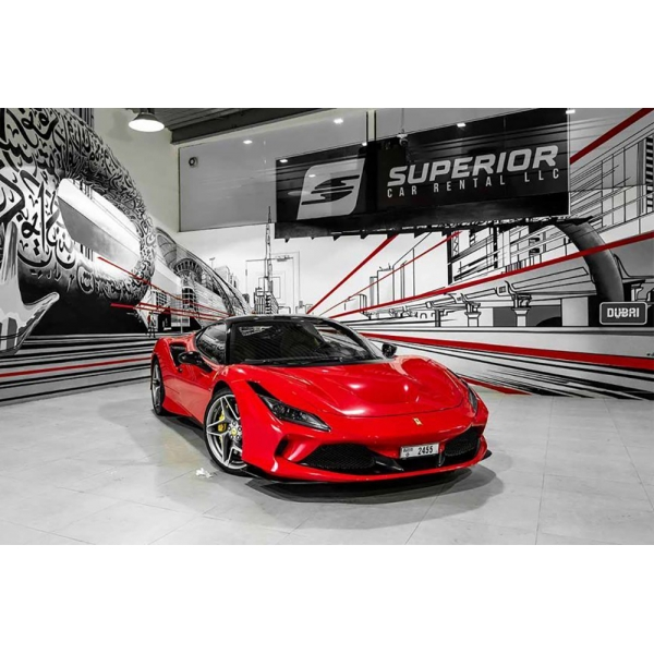Superior Car Rental - Ferrari F8 Tributo - Rosso - Exclusive Luxury Rent