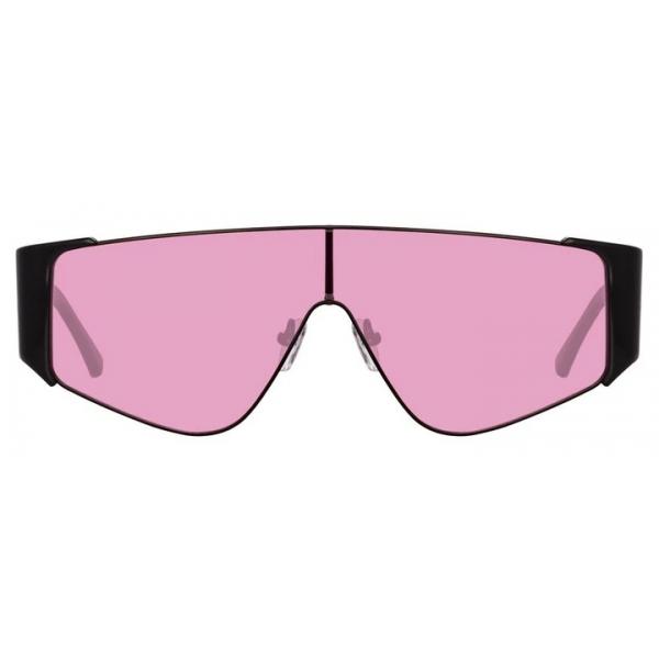 The Attico - The Attico Carlijn Shield Sunglasses in Black - ATTICO2C3SUN -The Attico Eyewear by Linda Farrow
