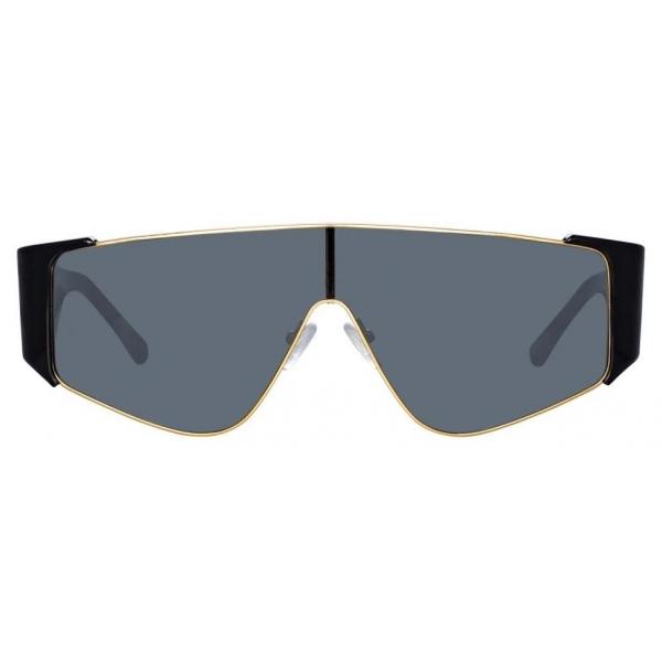 The Attico - The Attico Carlijn Shield Sunglasses in Black - ATTICO2C1SUN - The Attico Eyewear by Linda Farrow
