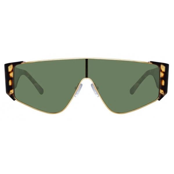 The Attico - The Attico Carlijn Shield Sunglasses in Tortoiseshell - ATTICO2C2SUN - The Attico Eyewear by Linda Farrow