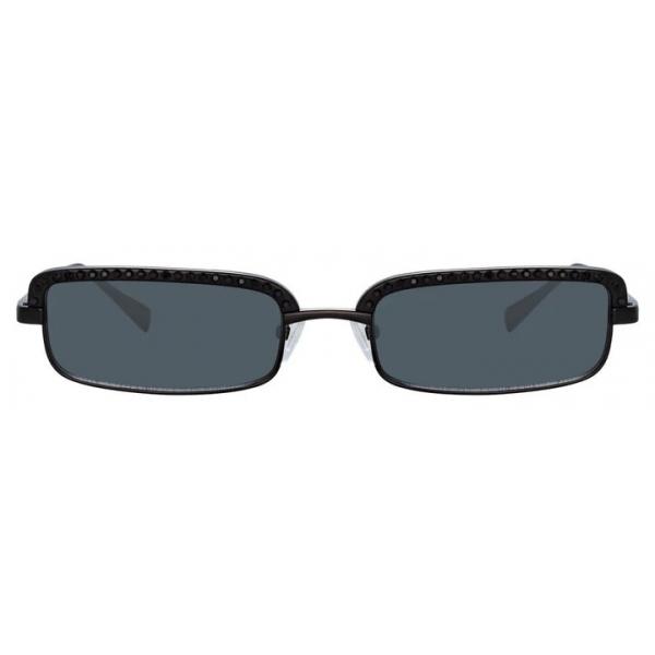 The Attico - The Attico Dana Rectangular Sunglasses in Black - ATTICO5C1SUN - The Attico Eyewear by Linda Farrow