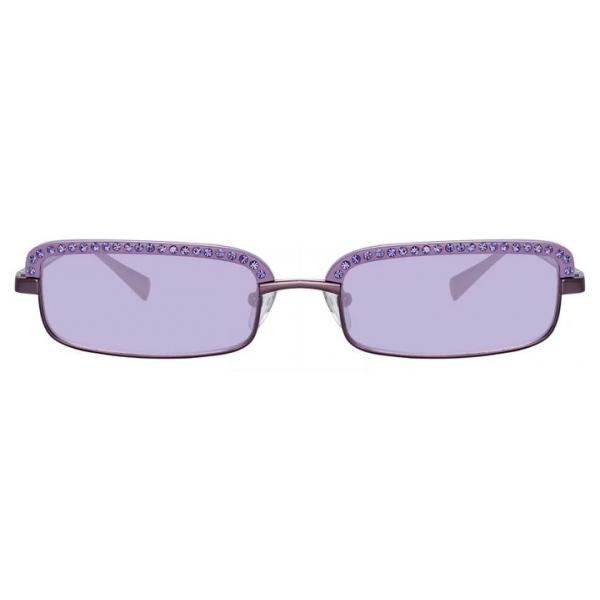 The Attico - The Attico Dana Rectangular Sunglasses in Purple - ATTICO5C2SUN - The Attico Eyewear by Linda Farrow