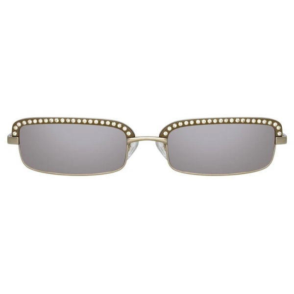 The Attico - The Attico Dana Rectangular Sunglasses in Silver - ATTICO5C3SUN - The Attico Eyewear by Linda Farrow
