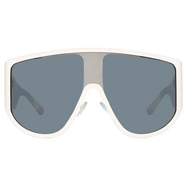 The Attico - The Attico Dana Iman Shield Sunglasses in Cream - ATTICO1C3SUN - The Attico Eyewear by Linda Farrow