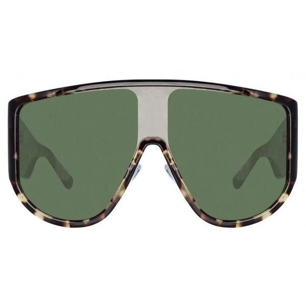 The Attico - The Attico Dana Iman Shield Sunglasses in Tortoiseshell - ATTICO1C2SUN - The Attico Eyewear by Linda Farrow