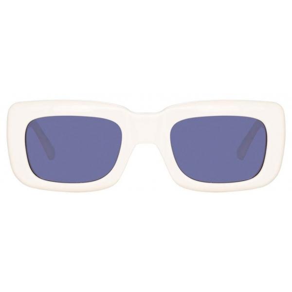 The Attico - The Attico Marfa Rectangular Sunglasses in Cream - ATTICO3C5SUN - The Attico Eyewear by Linda Farrow