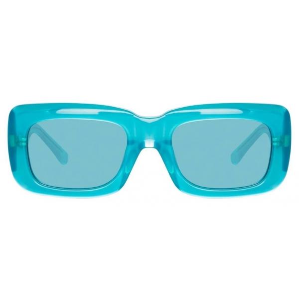 The Attico - The Attico Marfa Rectangular Sunglasses in Mint - ATTICO3C4SUN - The Attico Eyewear by Linda Farrow