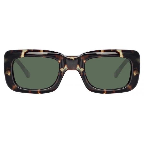 The Attico - The Attico Marfa Rectangular Sunglasses in Tortoiseshell - ATTICO3C2SUN - The Attico Eyewear by Linda Farrow