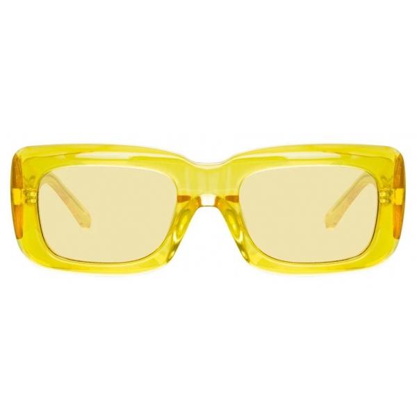 The Attico - The Attico Marfa Rectangular Sunglasses in Yellow - ATTICO3C6SUN - The Attico Eyewear by Linda Farrow