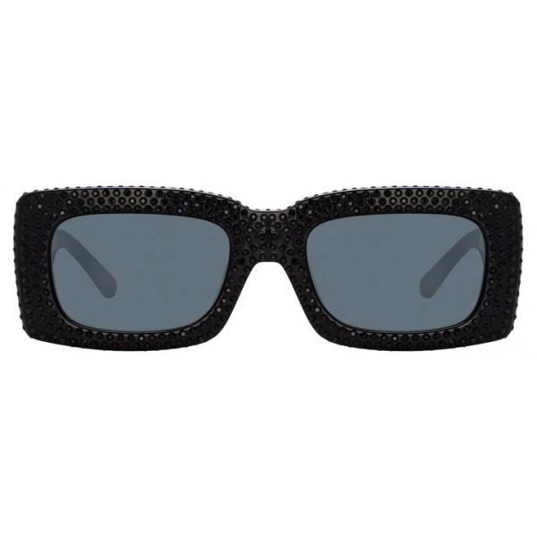 The Attico - The Attico Stella Rectangular Sunglasses in Black - ATTICO6C1SUN - The Attico Eyewear by Linda Farrow