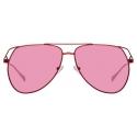 The Attico - The Attico Telma Occhiali da Sole Aviatore in Rosa - ATTICO4C5SUN - The Attico Eyewear by Linda Farrow