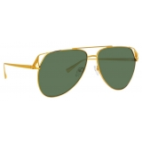 The Attico - The Attico Telma Occhiali da Sole Aviatore in Tono Oro Giallo - ATTICO4C2SUN - The Attico Eyewear by Linda Farrow