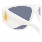 The Attico - The Attico Ivan Occhiali da Sole Angolari in Bianco - ATTICO11C4SUN - The Attico Eyewear by Linda Farrow