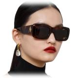 The Attico - The Attico Marfa Occhiali da Sole Rettangolari in Viola - ATTICO3C9SUN - The Attico Eyewear by Linda Farrow