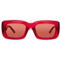 The Attico - The Attico Marfa Occhiali da Sole Rettangolari in Rosso - ATTICO3C11SUN - The Attico Eyewear by Linda Farrow