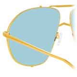 The Attico - The Attico Mina Occhiali da Sole Oversize in Oro Chiaro e Blu - ATTICO13C4SUN - The Attico Eyewear by Linda Farrow