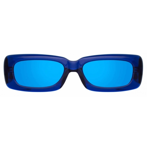 The Attico - The Attico Mini Marfa in Blu - ATTICO16C3SUN - Occhiali da Sole - Official - The Attico Eyewear by Linda Farrow