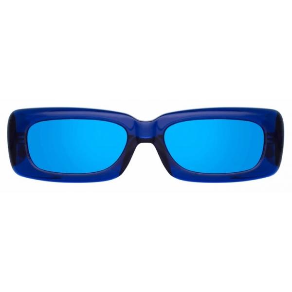 The Attico - The Attico Mini Marfa in Blue - ATTICO16C3SUN - Sunglasses - Official - The Attico Eyewear by Linda Farrow