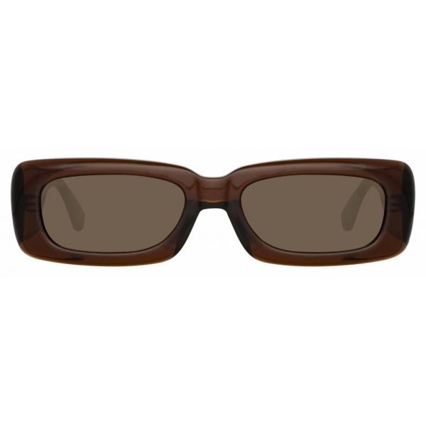 The Attico - The Attico Mini Marfa in Marrone - ATTICO16C4SUN - Occhiali da Sole - Official - The Attico Eyewear by Linda Farrow