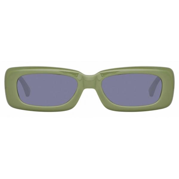 The Attico - The Attico Mini Marfa in Green - ATTICO16C5SUN - Sunglasses - Official - The Attico Eyewear by Linda Farrow