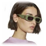 The Attico - The Attico Mini Marfa in Verde - ATTICO16C5SUN - Occhiali da Sole - Official - The Attico Eyewear by Linda Farrow