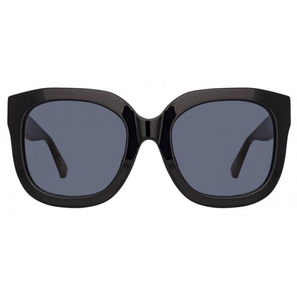 The Attico - The Attico Zoe Occhiali da Sole Oversize in Nero - ATTICO12C1SUN - The Attico Eyewear by Linda Farrow