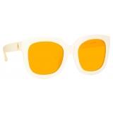 The Attico - The Attico Zoe Occhiali da Sole Oversize in Crema - ATTICO12C4SUN - The Attico Eyewear by Linda Farrow
