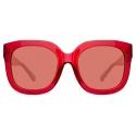 The Attico - The Attico Zoe Occhiali da Sole Oversize in Rosso - ATTICO12C3SUN - The Attico Eyewear by Linda Farrow