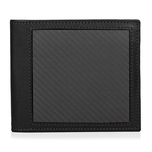 TecknoMonster - Coin Wallet - Aeronautical and Leather Carbon Fiber Wallet - Luxury - Handmade in Italy
