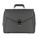 TecknoMonster - Avia Slim - Borsa Business in Fibra di Carbonio Aeronautico e Pelle - Luxury - Handmade in Italy