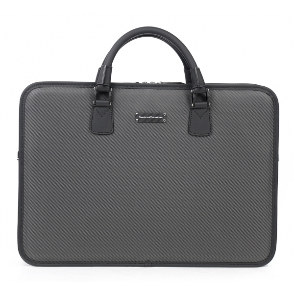 TecknoMonster - Dizzy - Business Bag in Aeronautical and Leather Carbon Fiber - Luxury - Handmade in Italy