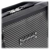 TecknoMonster - Dizzy - Borsa Business in Fibra di Carbonio Aeronautico e Pelle - Luxury - Handmade in Italy