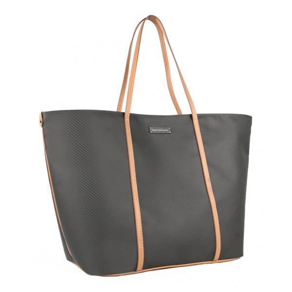 TecknoMonster - Kantika - Woman Bag in Aeronautical and Leather Carbon Fiber - Luxury - Handmade in Italy