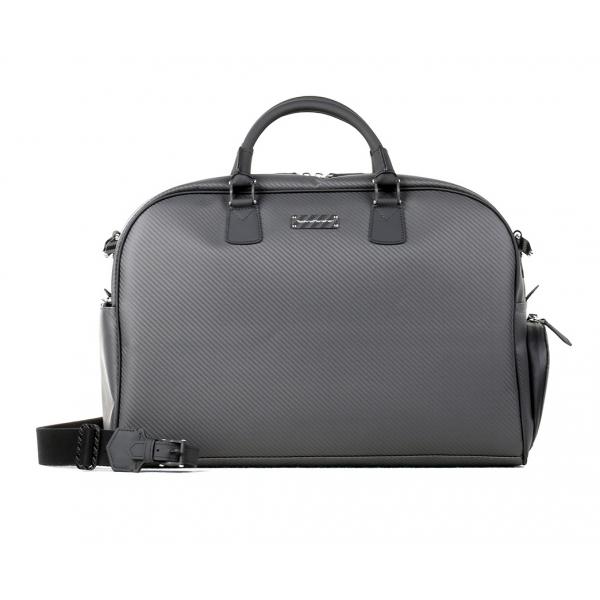TecknoMonster - Gimnika - Bag in Aeronautical and Leather Carbon Fiber - Luxury - Handmade in Italy