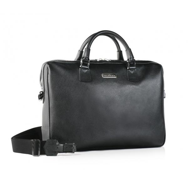 TecknoMonster - Pegasus TecknoMonster - Saffiano Leather and  Aeronautical Carbon Business Bag - Handmade in Italy