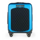 TecknoMonster - Valigia Akille Flap Azzurro Chiaro in Fibra di Carbonio - Trolley in Carbonio Aeronautico