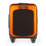 TecknoMonster - Valigia Akille Flap Arancione in Fibra di Carbonio - Trolley in Carbonio Aeronautico
