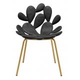 Qeeboo - Filicudi Chair - Set of 2 Pieces - Nero Ottone - Sedia Qeeboo by Stefano Giovannoni - Arredo - Casa