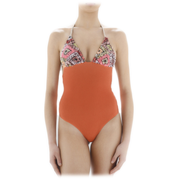 Grace - Grazia di Miceli - Freedom Beach Intero - Luxury Exclusive Collection - Made in Italy - High Quality Swimsuit