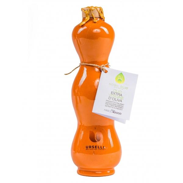 Urselli Food - Nobil Olio - Collection Orange - Extra Virgin Olive Oil - Artisan Ceramic - Italian High Quality - Puglia