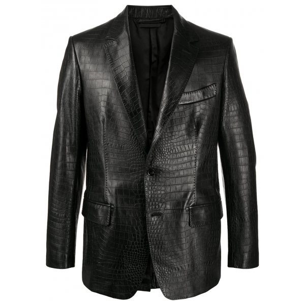 Jovanny Capri - Magnificent Jacket with Crocodile Motif - Leather Jacket - Luxury High Quality