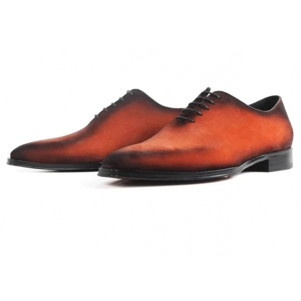 Jovanny Capri - Derby Shoes - Patina Effect - Handmade in Italy - Leather Shoes - Luxury High Quality