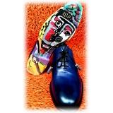 Jovanny Capri - Scarpe Derby - Effetto Patina - Handmade in Italy - Scarpe in Pelle - Alta Qualità Luxury