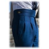 Jovanny Capri - Pantaloni Abito - Alta Sartoria Napoletana - Tessuto Loro Piana 150s - Alta Qualità Luxury