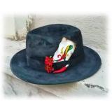 Jovanny Capri - Cappello Fedora Stuper Stylish - Alta Sartoria Italiana - Realizzato a Mano - Cappello - Alta Qualità Luxury